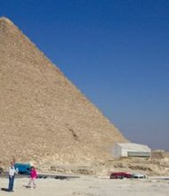 The Great Pyramid of Giza (Khufu/Cheops). Taken February 2006.