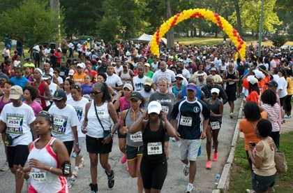 HBCU alumni participated in the 6th Annual Atlanta HBCU Alumni Run/Walk to raise money for scholarships.