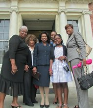 On July 3, Governor Martin O'Malley announced his appointment of Judge Shirley Watts (center) as the first African American female on the Maryland Court of Appeals.