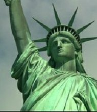 The Statue of Liberty, closed since it was hard hit by Superstorm Sandy in October, received its first visitors just before 9 a.m. When it was struck last October, one of the world's most iconic sites had only been open a few days following a year of renovations.