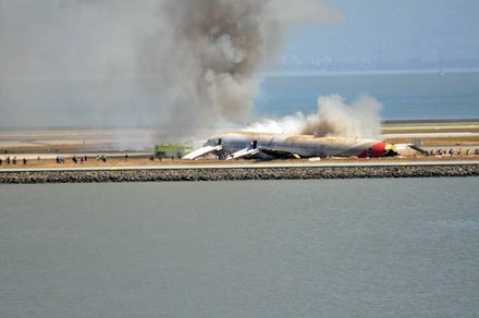 Asiana Airlines Flight 214, a Boeing 777 crashed Saturday, July 6, 2013 on approach to San Francisco International Airport. Two died on scene and 182 were hospitalized.