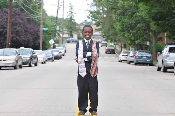 Nine-year-old Brett Burch, who lives in Northwest, designs ties and other decorative accessories. The young designer established his own business, Brett's Trove, two years ago.