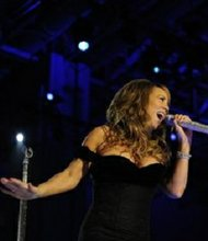 Singer Mariah Carey performs at the Neighborhood Ball in downtown Washington on Jan. 20, 2009. The ball was held in honor of Pres. Barack Obama's inauguration as the 44th President of the United States.