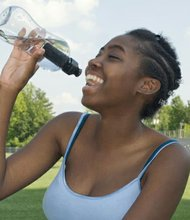 People who exercise in extreme heat are at risk for heat-related illness, so it′s important to drink more water than usual and not wait until you're thirsty to drink.