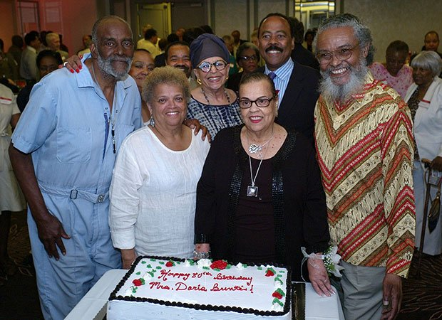 Former state Representative Doris Bunte celebrated her 80th birthday at the Hyatt Hotel last week. Among the guests were Mel King, former state Representative Saundra Graham, and state Representative Byron Rushing.