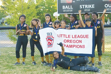 "The Peninsula Little League ""Hit Squad"" softball team"