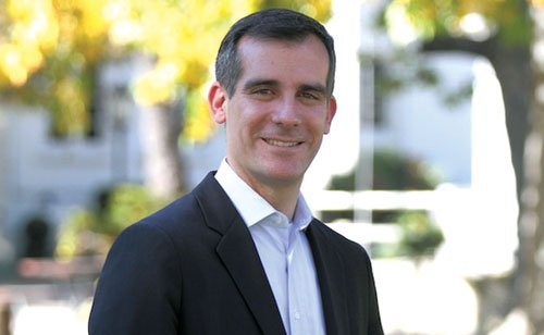Los Angeles Mayor Eric Garcetti talked about revitalizing the Los Angeles River and creating a series of parks along the ...