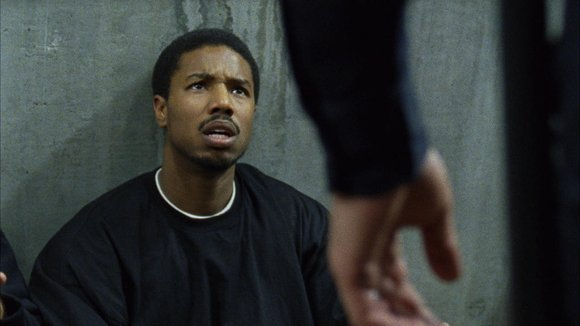 "Michael B. Jordan as Oscar Grant in ""Fruitvale Station."""