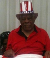 Flander Dunham celebrated his 100th birthday on July 4, 2013.