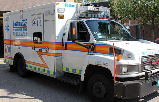 A Boston Emergency Medical Services ambulance.