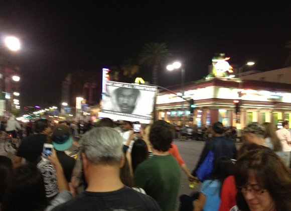 A fourth night of protests on Tuesday in Los Angeles after the acquittal of George Zimmerman in the killing of ...