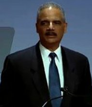 Attorney General Eric Holder delivers remarks at the Delta Sigma Theta Social Action luncheon. Trayvon Martin and possible federal charges against George Zimmerman are among his topics of discussion.