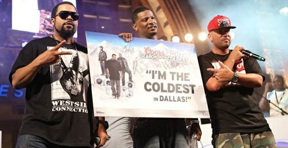 Ice Cube, Bun B, and DJ Drama were the judges of a freestyle battle between aspiring Dallas-area MCs, Beach Boy ...