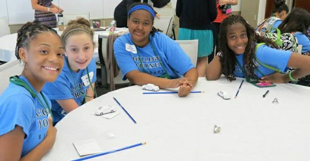 Local Girl Scout troops in junior high school participated in a College Journey – a science, technology, engineering and math-focused program – during Cadets Week from June 23 through June 28.
