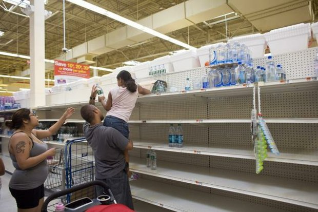Prince George's County residents flocked to stores to purchase large volumes of bottled water after officials warned that repairs to a water main would result in thousands being without water for days. (Courtesy photo)