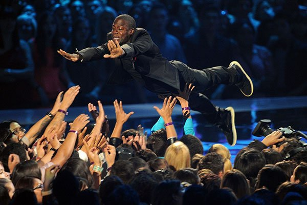 Comedian Kevin Hart is known for his energetic live shows, which even include pyrotechnics.