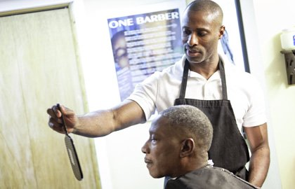 Robert Cradle has cut hair for a living for quite some time. The 44-year-old Odenton resident, doesn't charge the homeless ...