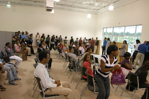 On its first day, 250 job seekers showed up at the Stonecrest Walmart hiring center on July 15 in search ...