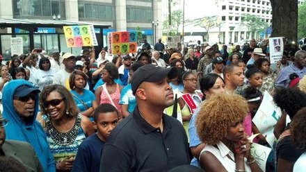 Indianapolis 'Justice for Trayvon' Rally   Indianapolis, IN Residents of Indianapolis, IN, and attendees of the Indiana Black Expo gather with others across the Nation for a 'Justice for Trayvon' Rally.