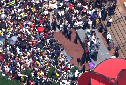 New York 'Justice for Trayvon' Rally 	