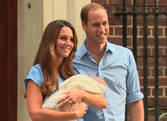 LONDON, England — The public got its first view of the new heir to the British throne Tuesday as Prince ...