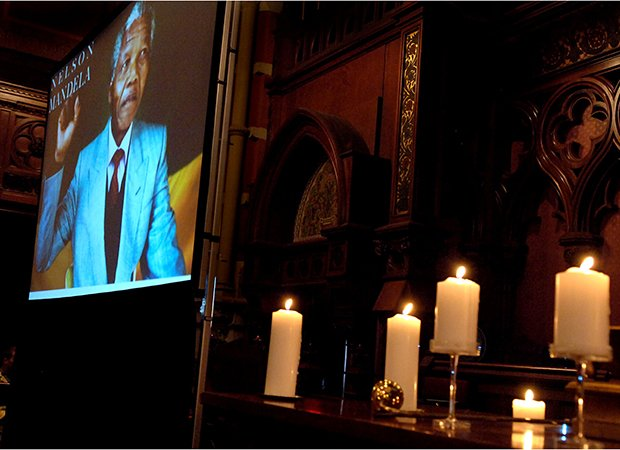 The 95th birthday of Nelson Mandela, former President of South Africa, was celebrated at the Old South Church on Nelson Mandela International Day. In attendance were hundreds of Bostonians with Governor Deval Patrick and Boston Mayor Thomas Menino as featured speakers. The celebration ended with a candle lighting ceremony attended by local activists who made major contributions to the Anti-Apartheid movement.