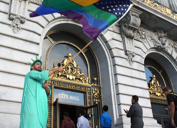 California's Supreme Court on Tuesday denied the San Diego County clerk's request to immediately halt same-sex marriages in the state, ...
