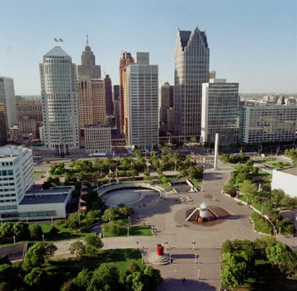 It has been a long and rocky ride down the economic slope for the Motor City.