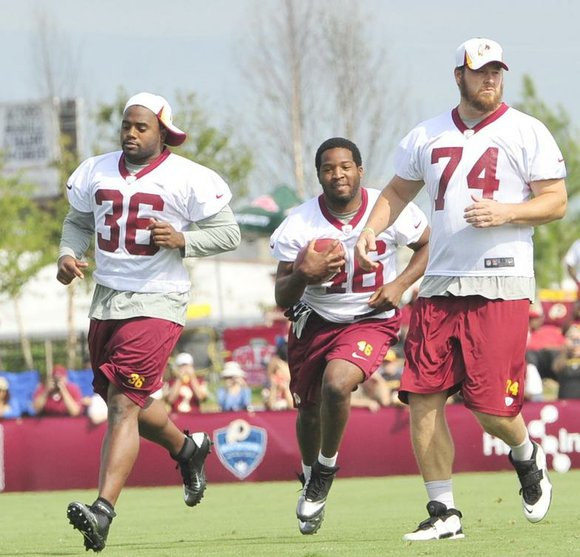 After a rousing first day of training camp at the Bon Secours Washington Redskins Training Center Thursday in Richmond, Va., ...