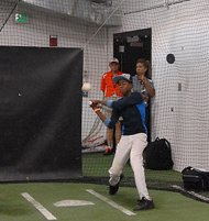 Deontay Savoy, 15, participated in drills and received special instruction during an Orioles youth baseball clinic sponsored by Giant Food.