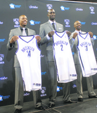 Kevin Garnett, Paul Pierce, and Jason Terry now have a new address with a Brooklyn USA ZIP code.