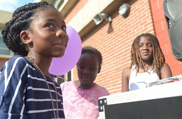 Rapper Zoe, 9 was part of the anti-bullying rally at J.C. Nalle Elementary School on Thurs., July 25 in Southeast.