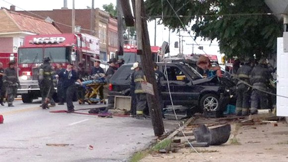 Vehicle hits Kansas City day care center