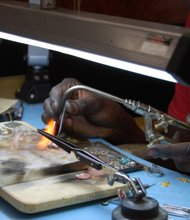 Jeweler Aladj Fallou Mbacke at work