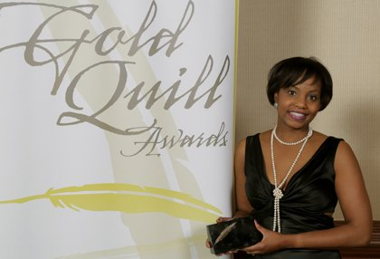 BGE's Keisha Clarke-English accepted the International Association of Business Communicators Gold Quill Award on behalf of BGE.
