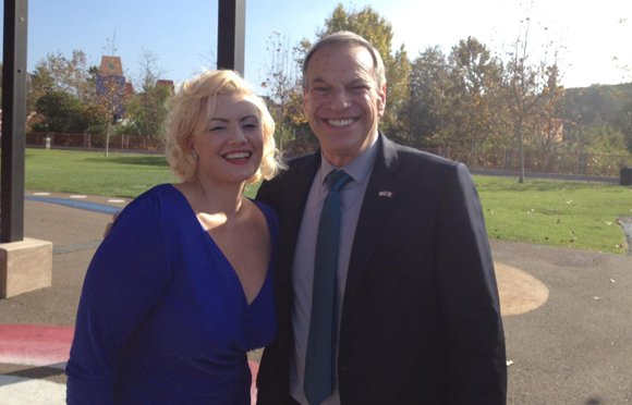 Emily Gilbert with San Diego Mayor Bob Filner	