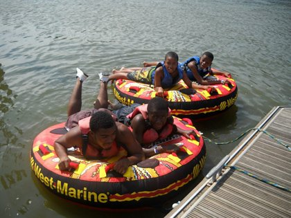 Children at The Summer Outreach Camp for Kids, operated by Paul's Place, Inc. are exposed to a variety of activities.