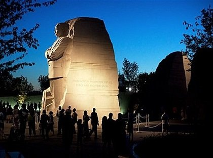 An inscription on the side of the Martin Luther King Jr. Memorial on the National Mall, which paraphrased a speech King delivered in 1968 in Atlanta, is being removed.