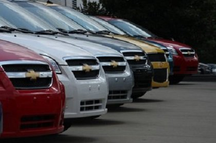 New Chevrolet cars & trucks on dealer lot
