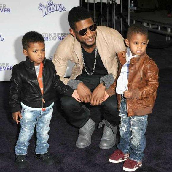 Usher kids 2014