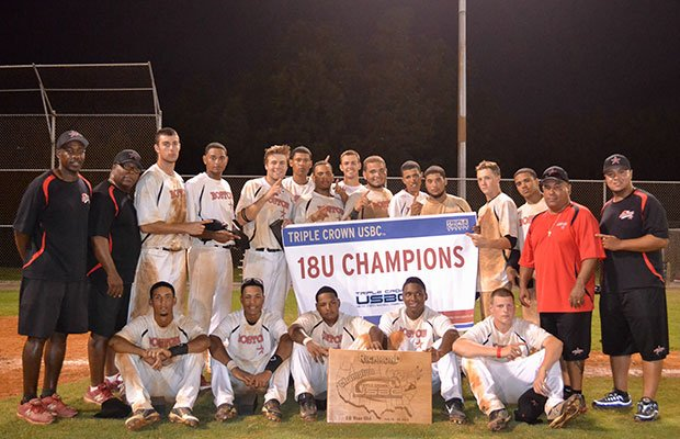 The Boston Astros 18U Team after being presented the 2013 Triple Crown Sports Championship Title in Richmond, Va., on July 22. Any young man from Roxbury, Dorchester or Mattapan can join the team.