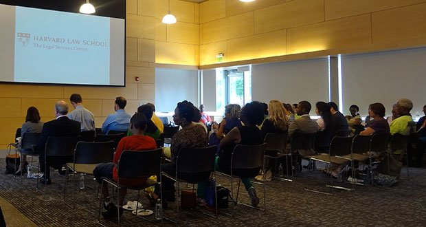 The kick-off meeting for the Mattapan Initiative was held at the Mattapan branch of the Boston Public Library on July 31.