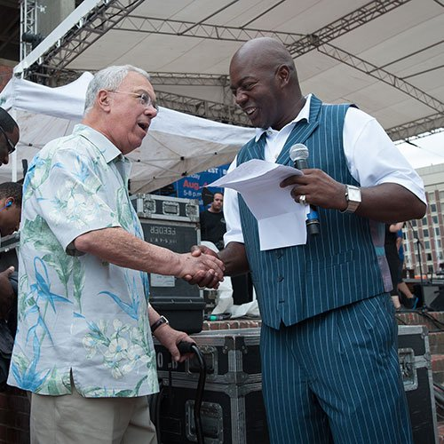 Sunday, August 4, 2013 - Mayor Thomas Menino attends the 13th Annual Gospel Fest on City Hall Plaza in Boston
