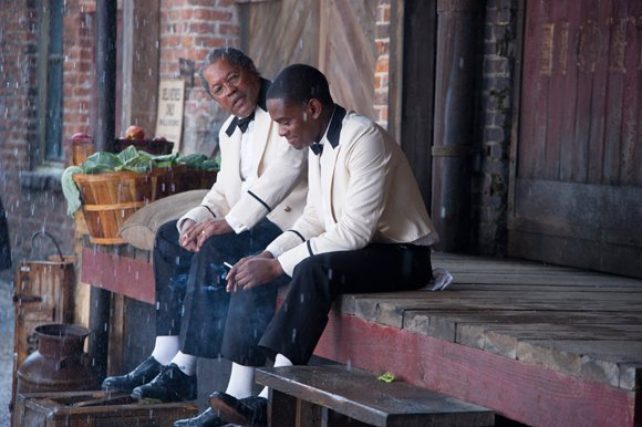 "Clarence Williams III and Aml Ameen star in ""The Butler."""