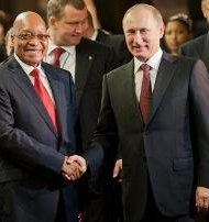 President Jacob Zuma and Russian President Vladimir Putin