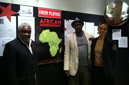"(Left to right) Reinaldo Barroso-Spech, Professor Tukufu Zuberi and Diarah N'Daw-Spech at the screening of the film ""African Independence,"" a feature-length documentary that was written, directed and produced by scholar, filmmaker and PBS ""History Detectives"" host, Professor Tukufu Zuberi in June. ""African Independence"" will be shown on the opening night of the African Diaspora International Film Festival on Friday, August 16, 2013 at the Goethe Institute on Seventh Street in Washington, D.C. For the complete list and schedule of all films that will be shown at the film festival or to purchase tickets in advance, visit: www.NYADIFF.org. or call: 212-864-1760."
