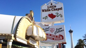 A Little White Chapel is just one of many wedding chapels on the Las Vegas strip.
