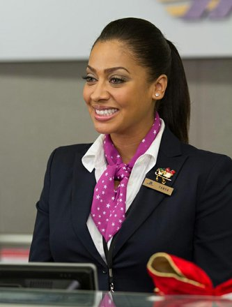 "LaLa Anthony as ""Tanya in Ticketing"" in ""Baggage Claim."""
