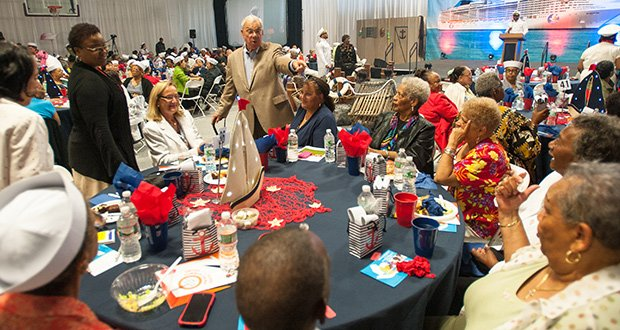 Mayor Thomas Menino attends the United for Seniors Summer Swing at the Shelburne Community Center in Roxbury on August 8.