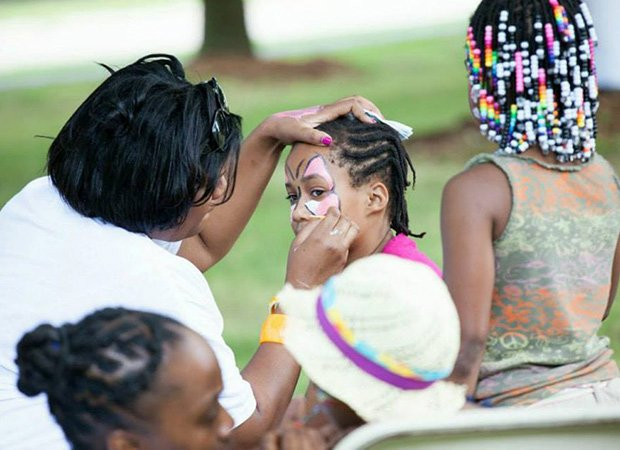 Kids participated in a number of activities at the festival, such as face painting.